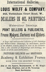 International Galleries, advertisement